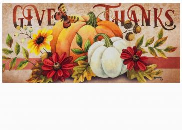 Sassafras Give Thanks Mat - 10 x 22 Insert Doormat