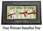 Sassafras Glad Tidings Switch Insert Doormat - 10 x 22