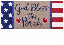 Sassafras God Bless this Porch Mat - 10 x 22 Insert Doormat