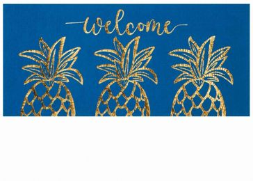 Sassafras Golden Pineapple Mat - 10 x 22 Insert Doormat