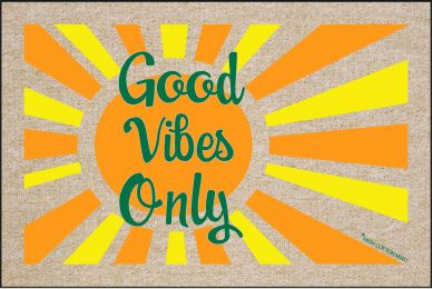 Good Vibes Only Doormat - Funny