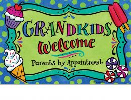 Indoor & Outdoor Grandkids Welcome Insert Doormat - 18x30