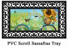 Sassafras Happy Day Sunflowers Mat - 10 x 22 Insert Doormat