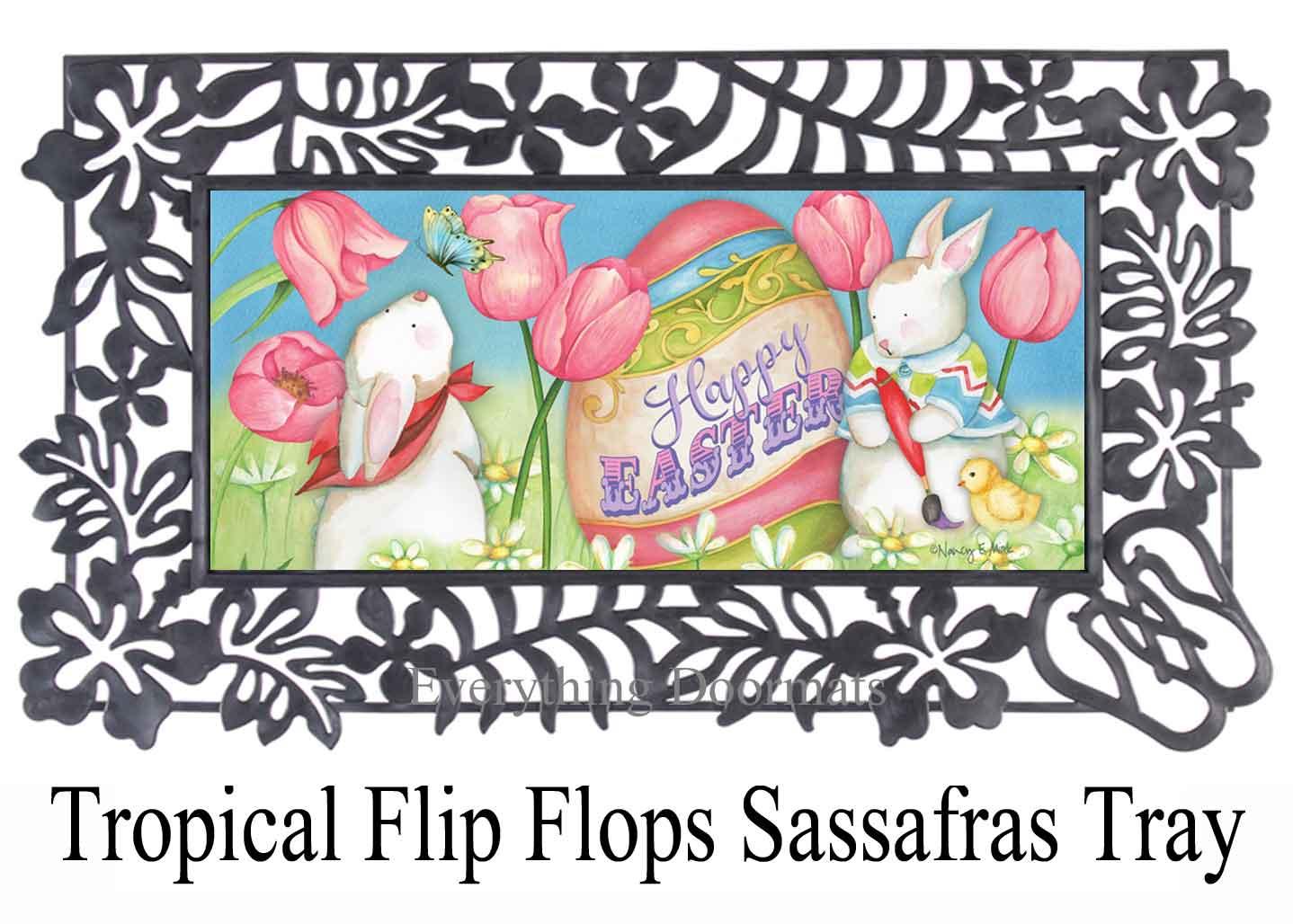Sassafras Happy Easter Egg Switch Doormat 10 X 22 Insert