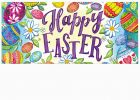 Happy Easter Eggs Sassafras Mat - 10 x 22 Insert Doormat