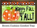 Indoor & Outdoor Happy Fall Pumpkin Insert Doormat