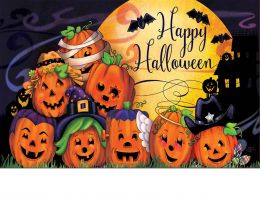 Indoor & Outdoor Happy Halloween Insert Doormat - 18x30