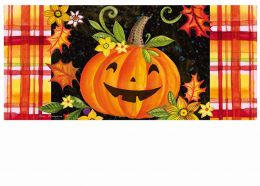 Sassafras Happy Jack-O-Lantern Switch Doormat - 10 x 22
