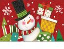 Indoor & Outdoor Happy Snowman MatMate Doormat-18x30