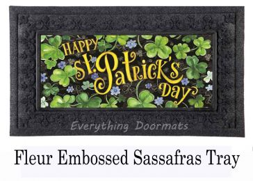 Sassafras Happy St Pat's Day Switch Mat - 10 x 22 Insert Doormat