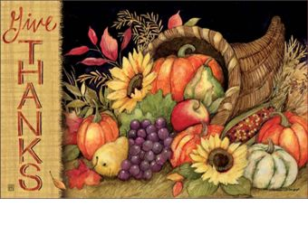 Indoor & Outdoor Harvest Blessings MatMates Doormat - 18x30