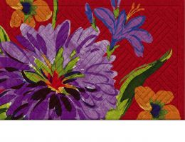 Hatch Embossed Fall Floral Insert Doormat - 19 x 30