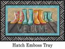 Hatch Embossed Mud Prints Dimensions Doormat - 19 x 30
