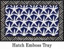 Hatch Embossed Starfish Dimension Doormat - 19 x 30