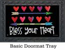 Indoor & Outdoor Hearts & Arrows MatMate Doormat - 18 x 30