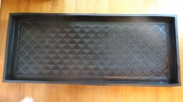 Heavy Duty Arrow Embossed Rubber Boot Tray - 34x16x2