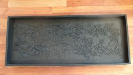 Heavy Duty Ivy Embossed Rubber Boot Tray - 34x16x2