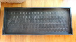 Heavy Duty Maize Embossed Rubber Boot Tray - 34x16x2