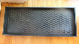 Heavy Duty Parquet Embossed Rubber Boot Tray - 34x16x2
