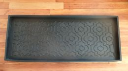 Heavy Duty Quarterfoil Embossed Rubber Boot Tray - 34x16x2