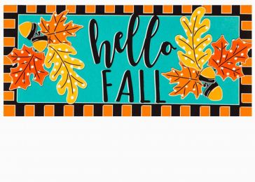 Sassafras Hello Fall Leaves Mat - 10 x 22 Insert Doormat