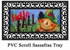 Sassafras Hello Fall Scarecrow Switch Doormat - 10 x 22