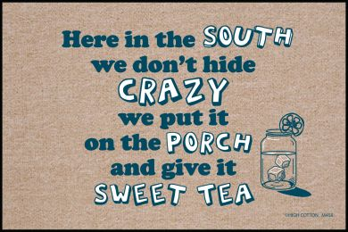 Here in the South Doormat-19x30 Funny