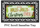 Sassafras Holly Jolly Christmas Switch Doormat - 10 x 22