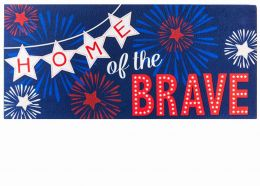 Sassafras Home of the Brave Mat - 10 x 22 Insert Doormat