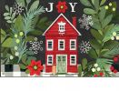Indoor & Outdoor Homespun Christmas MatMate Doormat-18x30