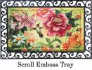 Floral Embossed Hummingbird Doormat - 19 x 30