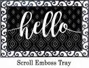 Ikat Hello Indoor & Outdoor MatMates Doormat - 18x30