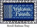 Indoor & Outdoor Indigo Ikat Welcome Insert Doormat - 18 x 30