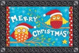 Indoor & Outdoor Insert Doormat - Christmas Owls