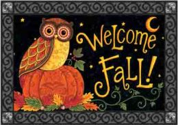 Indoor & Outdoor Insert Doormat - Fall Owl