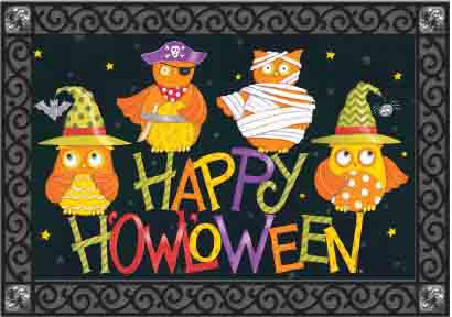 Indoor & Outdoor Insert Doormat - Halloween Owls