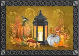 Indoor & Outdoor Insert Doormat - Lantern and Pumpkins
