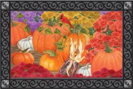 Indoor & Outdoor Insert Doormat - Pumpkins and Mums