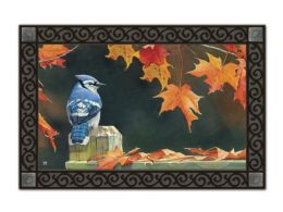 Indoor & Outdoor MatMates Doormat - Autumn Blue Jay
