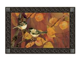 Indoor & Outdoor MatMates Doormat - Autumn Chickadees