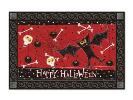 Indoor & Outdoor MatMates Doormat - Bats and Bones