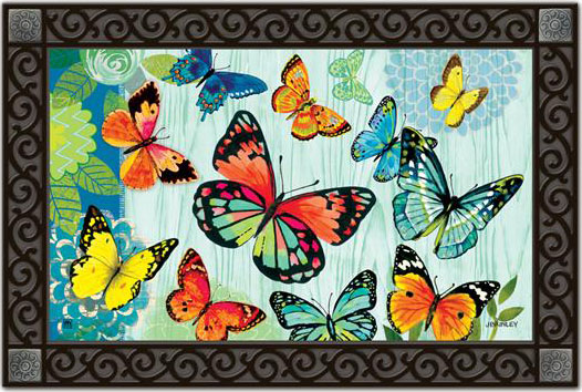 Indoor & Outdoor MatMates Doormat - Butterfly Flight