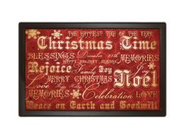 Indoor & Outdoor MatMates Doormat - Christmas Typography