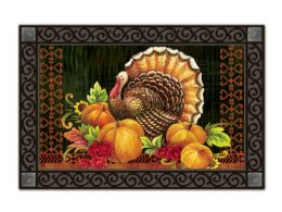 Indoor & Outdoor MatMates Doormat - Give Thanks Turkey