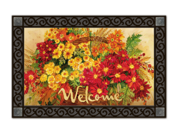 Indoor & Outdoor MatMates Doormat - Glorious Mums