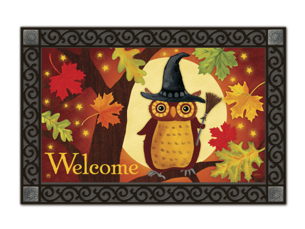 Indoor & Outdoor MatMates Doormat - Halloween Owl