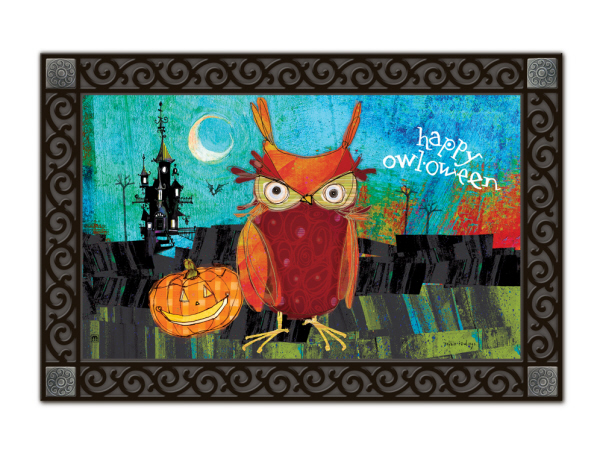 Indoor & Outdoor MatMates Doormat - Happy Owloween