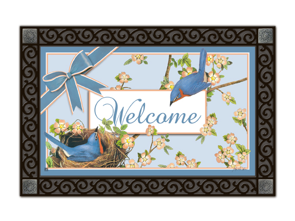 Indoor & Outdoor MatMates Doormat - Meadowbird