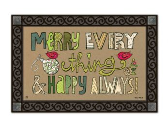 Indoor & Outdoor MatMates Doormat - Merry Everything