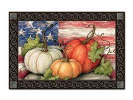 Indoor & Outdoor MatMates Doormat - Patriotic Pumpkins